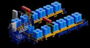 МВС Мехатроника. Полуавтоматическая линия фасовки в бочки и IBC контейнеры