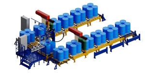 МВС Мехатроника. Полуавтоматическая линия розлива и фасовки жидких продуктов в бочки и IBC контейнеры