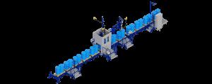 МВС Мехатроника. Автоматическая линия розлива жидких продуктов в бочки и IBC контейнеры.