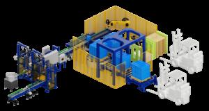 Automatic filling station of liquids in canisters 10-50 l. Автоматический фасовочный комплекс.