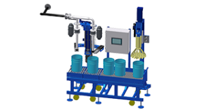 Grease dosing machine for 10 l, 20 l pails