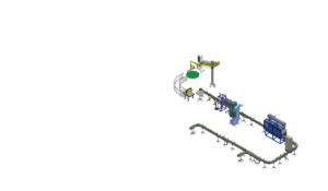 Автоматическая линия розлива промышленных масел в канистры