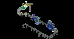Automatic filling station of liquids in canisters 1 l - 10 l. Автоматический фасовочный комплекс фасовки в канистры.